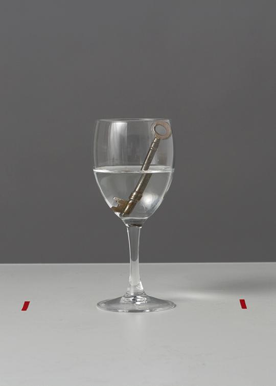 key-in-glass