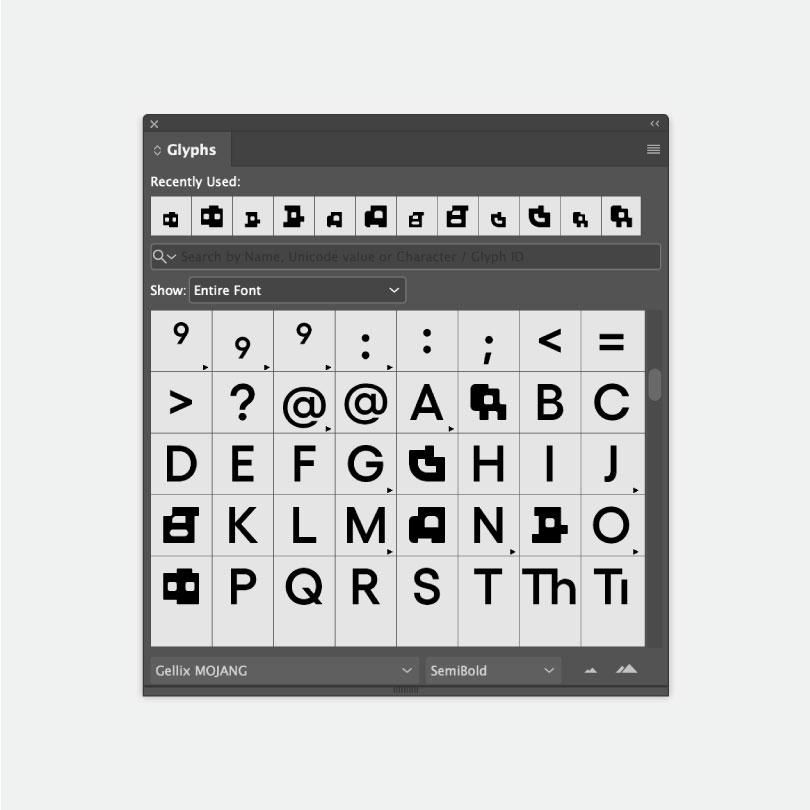 Mojang Studios_custom typeface_2